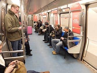 PATH in New York - In de trein