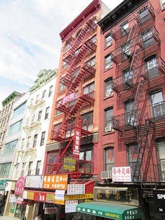 Chinatown in New York - Gebouwen