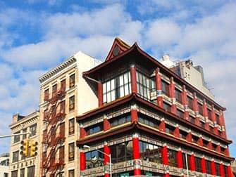 Chinatown in New York - typische gebouwen
