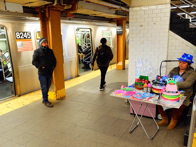 Metro in New York - Metroplatform