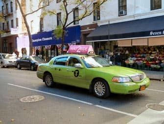 limegroene taxi in new york