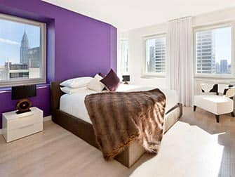 Appartementen in NYC - Times Square Towers slaapkamer