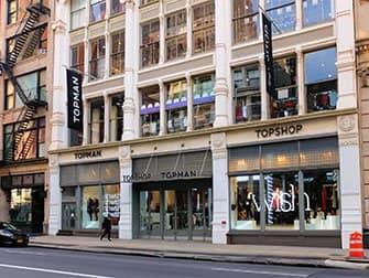 Winkelen in SoHo - Topshop