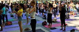 Gratis Yoga in Bryant Park