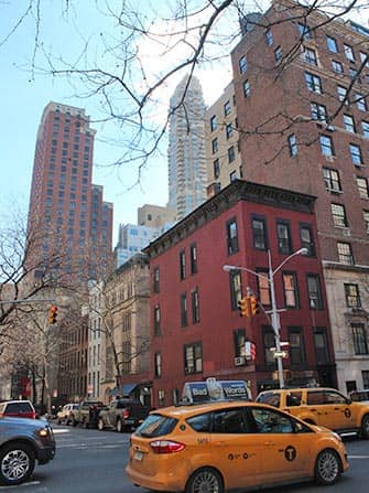 Upper East Side in New York - Taxis op Lexington Ave