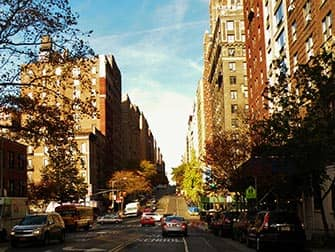 Upper West Side in New York - zonnige middag