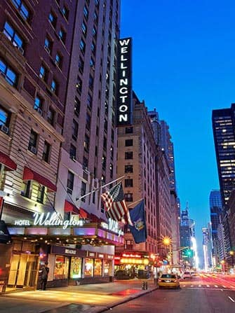 Wellington Hotel in New York - Gebouw