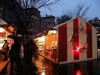 Markten in New York - Union Square Kerstmarkt