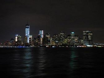 Uizicht Manhattan van een boot