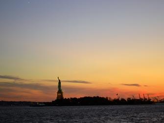 Statue of Liberty vanaf een boottocht in New York