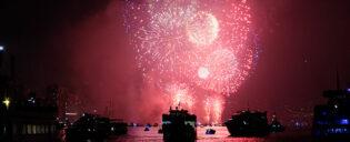 Boottochten op Oudejaarsavond in New York