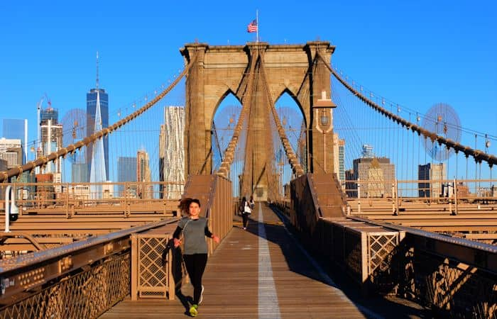 Brooklyn Bridge in New York - Wandelen