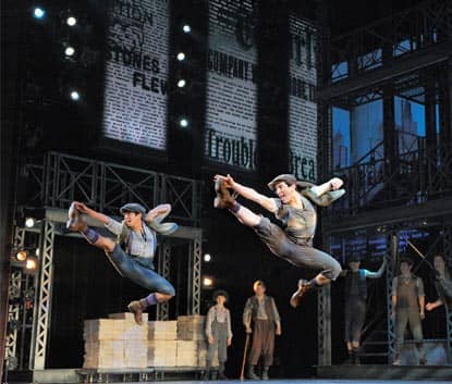 De musical Newsies op Broadway in New York