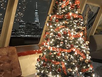 Dinner Cruises op kerstavond in New York - Kerstboom
