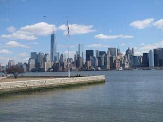 Ellis Island - Uitzicht op Manhattan