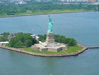 Het Vrijheidsbeeld - Uitzicht vanuit de lucht
