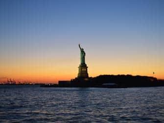 Het Vrijheidsbeeld - Zonsondergang