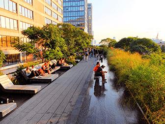 High Line Park in New York - Ligstoelen
