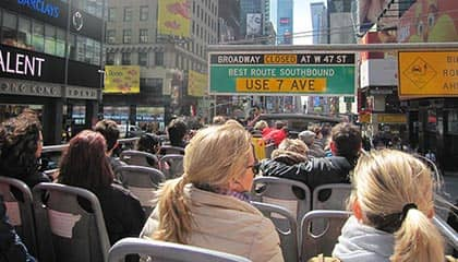 Hop-on Hop-off bus in New York - Sightseeing bustour