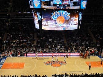 New York Knicks Wedstrijd in Madison Square Garden
