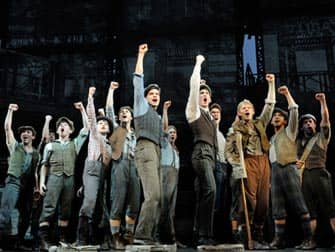 Newsies op Broadway in New York City