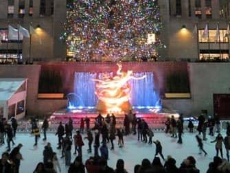 Schaatsen bij Rockefeller Center