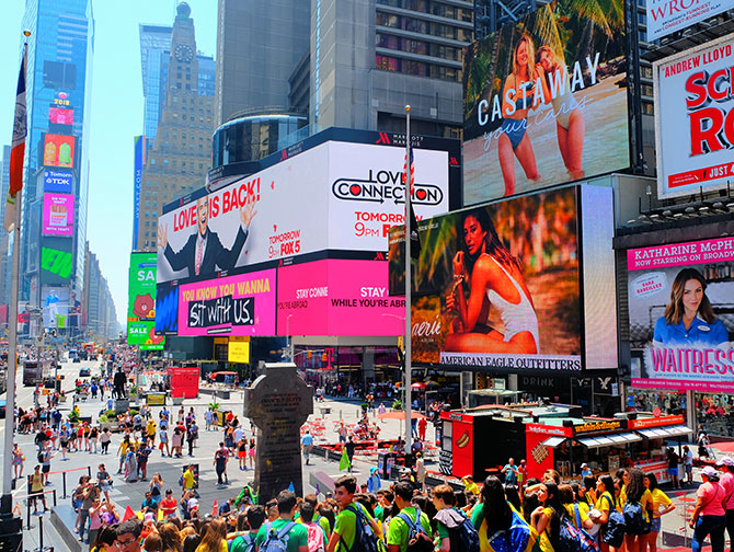 Times Square in New York - Menigte