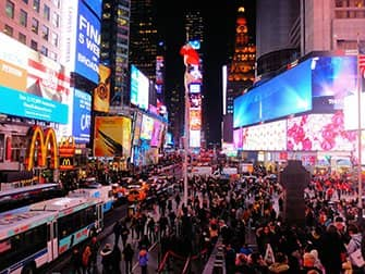 Times Square in New York - 's Avonds