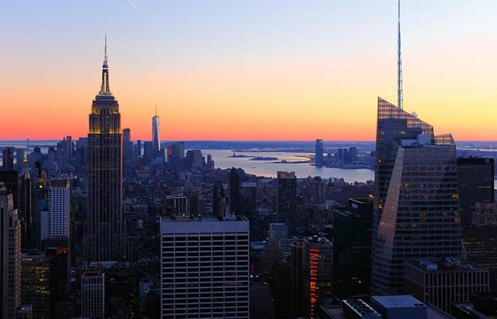 Top of the Rock Tickets - Uitzicht Zonsondergang