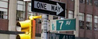 De weg vinden in new york