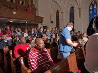Kerk tijdens de Gospel Tour in Harlem