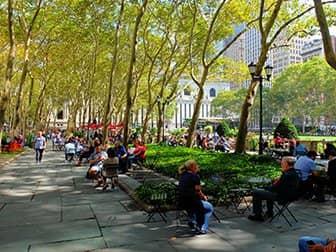 Parken in New York - Bryant Park Terras