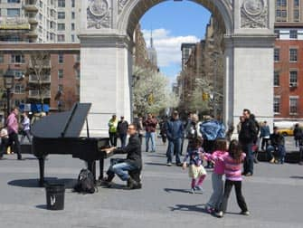Parken in New York - Live muziek in Washington Square Park
