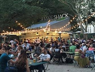 Parken in New York - Shake Shack in Madison Square Park