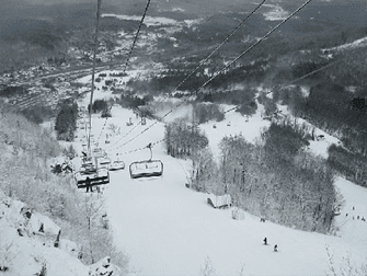 Ski Lift Hunter Mountain bij New York