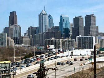 Skyline Philly Trip uit New York