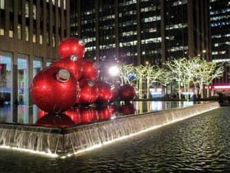 kerstdecoratie in new york