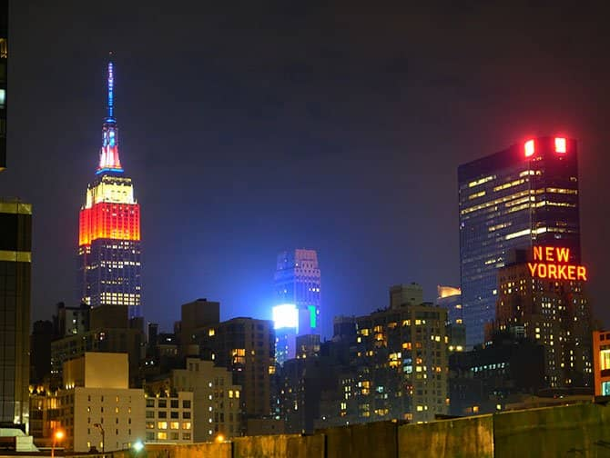 4 juli - Independence Day in New York - Empire State Building