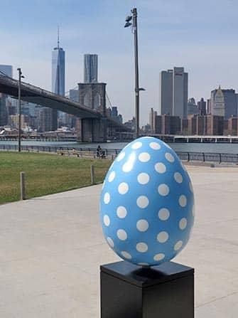 Blauwe Paasei in New York