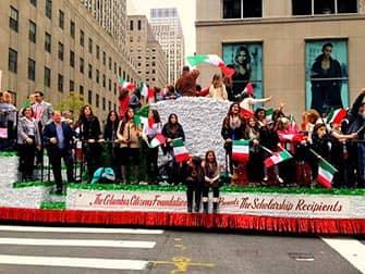 Columbus Day in New York - Italiaanse studenten