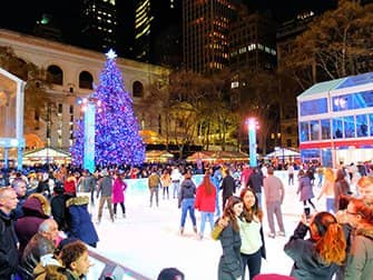 Kerstsfeer in New York - Bryant Park
