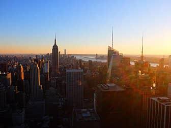Nieuwjaarsdag in New York - Top of the Rock bij Zonsondergang