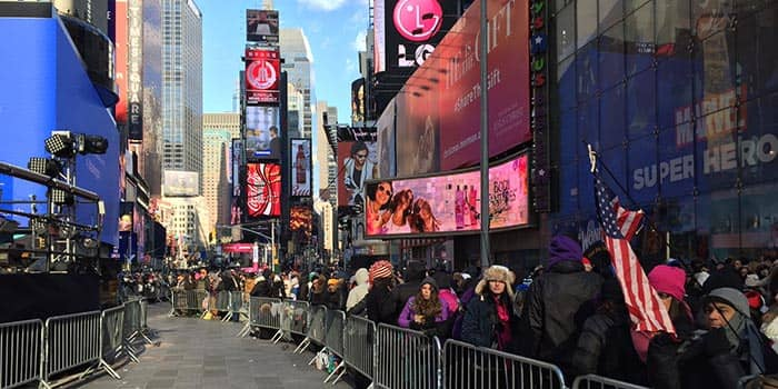Oudejaarsavond in New York - Times Square