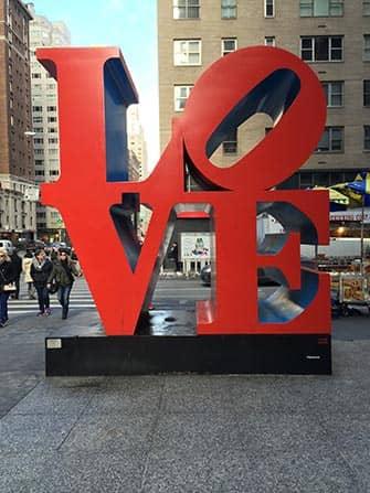 Valentijnsdag in New York - LOVE Sculptuur
