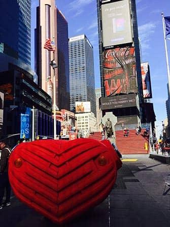 Valentijnsdag in New York - Times Square