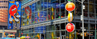 M&M's-winkel op Times Square