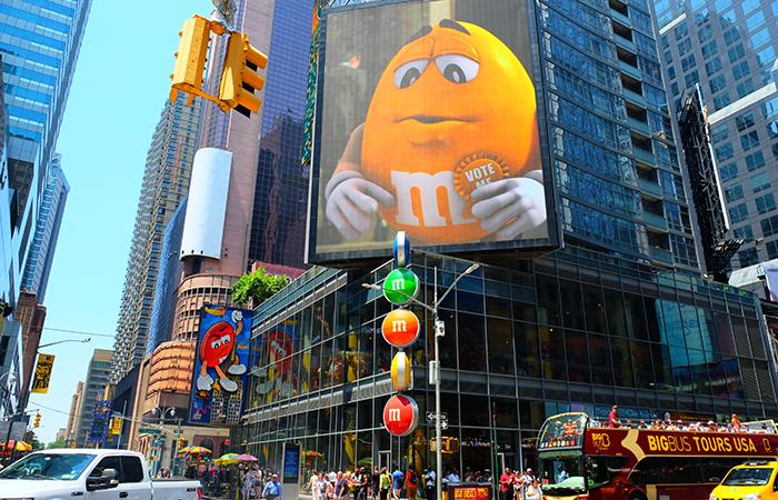 M&M's-winkel op Times Square - Exterieur