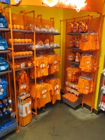M&M's winkel merchandise