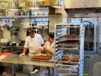de keuken bij cake boss cafe manhattan
