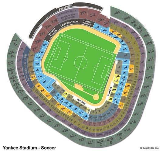 New York City FC - Yankee Stadium Plattegrond